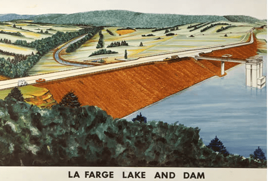 Illustration of proposed La Farge reservoir